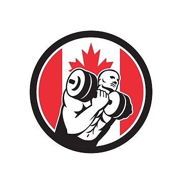 Canadian Gym Circuit Canada Flag Icon by patrimonio