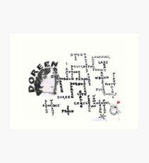 50 Doreen Things Art Print