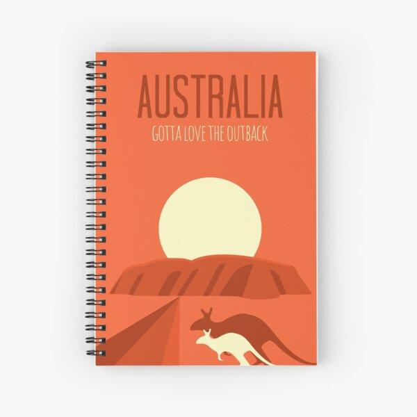Australia Uluru Outback Spiral Notebook