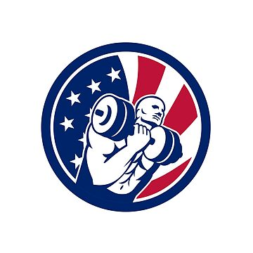 American Gym Circuit USA Flag Icon  by patrimonio