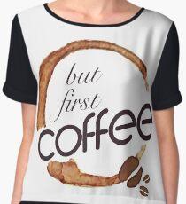 But first coffee - I love Coffee Chiffon Top