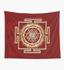 Shri Yantra - Cosmic Conductor of Energy, Sacred Geometry Wall Tapestry