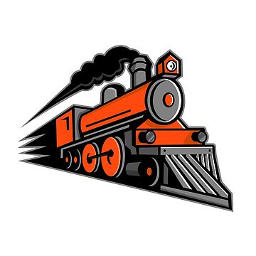 Steam Locomotive Speeding Mascot by patrimonio