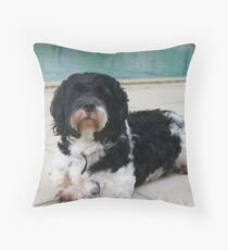Go Go Relaxing By The Pool Throw Pillow