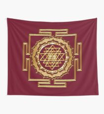 Shri Yantra - Cosmic Conductor of Energy Wall Tapestry