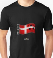 Denmark 2018 Soccer Tournament Flag Russia Unisex T-Shirt