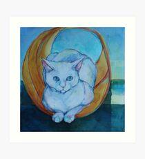 Tunnel vision - cat Art Print