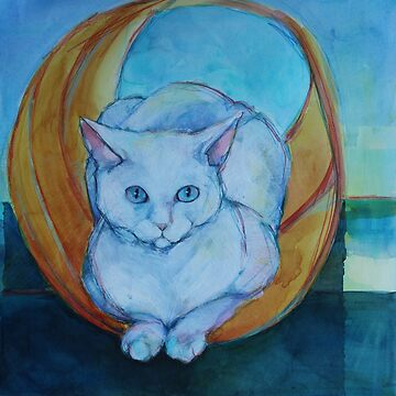Tunnel vision - cat by robynbradshaw