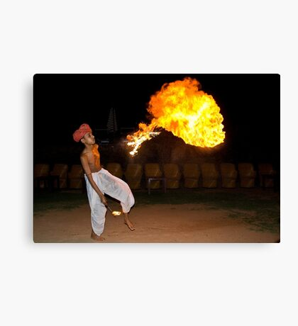 Playing with fire! Canvas Print