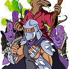 Master Splinter, Shredder, and Foot Soldiers by moonwalkerwiz