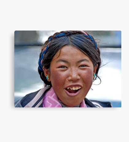 Tibetan girl (II) Canvas Print