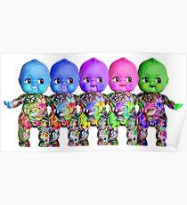 Tattooed Rainbow Kewpie Dolls Poster