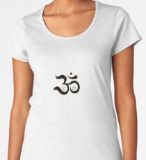 Zen Om Aum symbol simple red gold glitters shirt Women's Premium T-Shirt