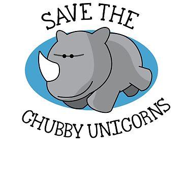 Chubby Unicorn by 0815-Shirts