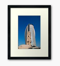 Israel, Haifa, Downtown, The Sail Tower high-rise building Framed Print