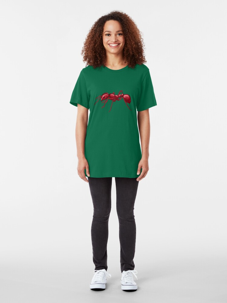 Alternate view of God made an Ant Slim Fit T-Shirt