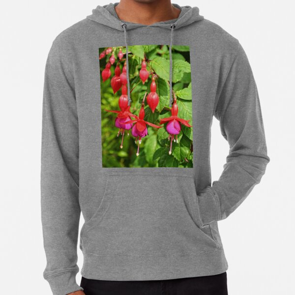 Red and Purple Fuchsia Lightweight Hoodie