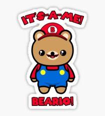 Bear Cute Funny Kawaii Mario Parody Sticker