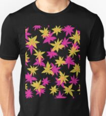 Abstract Pink Flowers Unisex T-Shirt