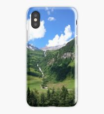 Beautiful Mountain View with Waterfall in Austria iPhone Case