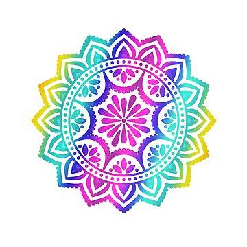 Gradient Mandala by Bebichic