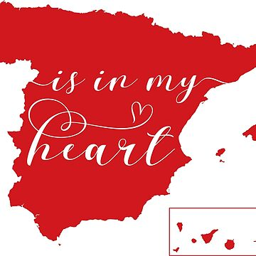 Spain Is In My Heart Map Sticker by Celticana