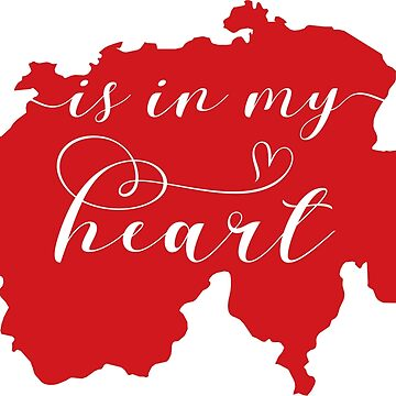 Switzerland Is In My Heart Map Sticker by Celticana