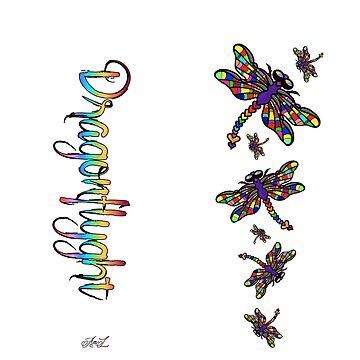 Dragonflyght Leggings by AmandaMLucas