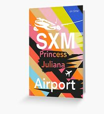 SXM Sint Maarten  design Greeting Card