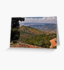 The View From Santa Lucia's Mountain Top © Greeting Card