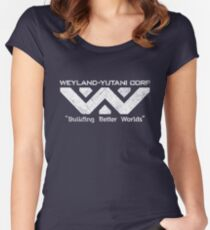 W-Y Corp - Vintage White Women's Fitted Scoop T-Shirt