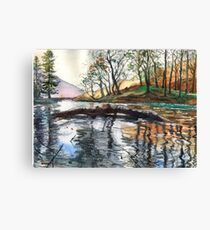 """...""""Lanty's Tarn"""" after mikebov photo. Canvas Print"""