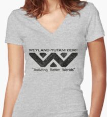W-Y Corp - Vintage Black Women's Fitted V-Neck T-Shirt
