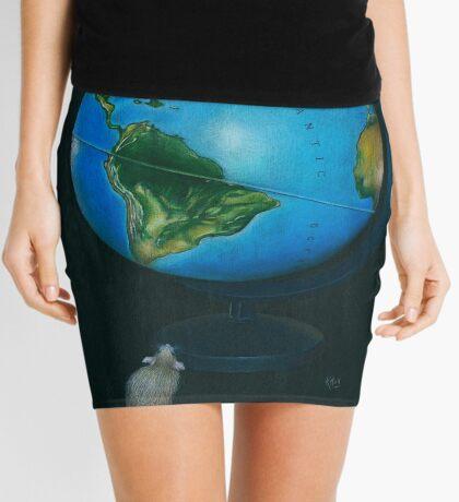 Around the World in Eighty Seconds Mini Skirt