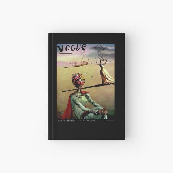 VOGUE : Vintage 1939 Dali Flower Head Lady Advertising Print Hardcover Journal