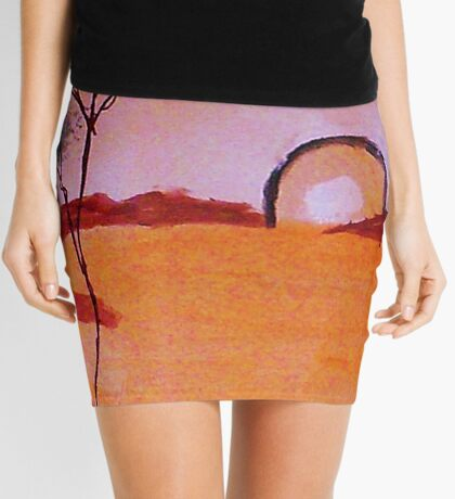 Fantacy tree from a series as they are being created. watercolor Mini Skirt