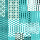 Aqua Patchwork Pattern by ILoveTheQuirky