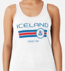 Fußball - Island (Away White) Tanktop für Frauen