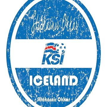 Football - Iceland (Distressed) by madeofthoughts