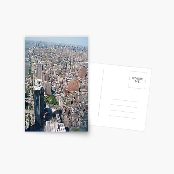 Aerial photography, New York City, Manhattan, Brooklyn, New York, streets, buildings, skyscrapers, #NewYorkCity, #Manhattan, #Brooklyn, #NewYork, #streets, #buildings, #skyscrapers, #cars Postcard