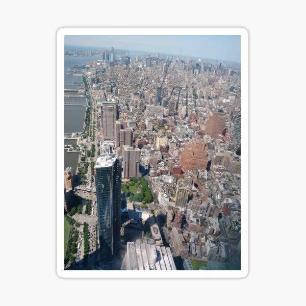 Aerial photography, New York City, Manhattan, Brooklyn, New York, streets, buildings, skyscrapers, #NewYorkCity, #Manhattan, #Brooklyn, #NewYork, #streets, #buildings, #skyscrapers, #cars Sticker