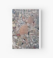 Aerial photography, New York City, Manhattan, Brooklyn, New York, streets, buildings, skyscrapers, #NewYorkCity, #Manhattan, #Brooklyn, #NewYork, #streets, #buildings, #skyscrapers, #cars Hardcover Journal