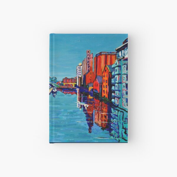 Grand Canal Dock, Dublin, Ireland Hardcover Journal