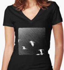 Fly By Night Women's Fitted V-Neck T-Shirt
