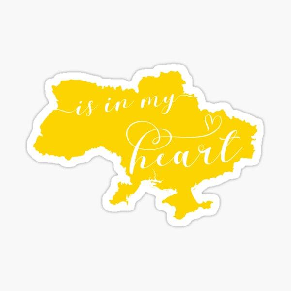 Ukraine Is In My Heart Map Sticker