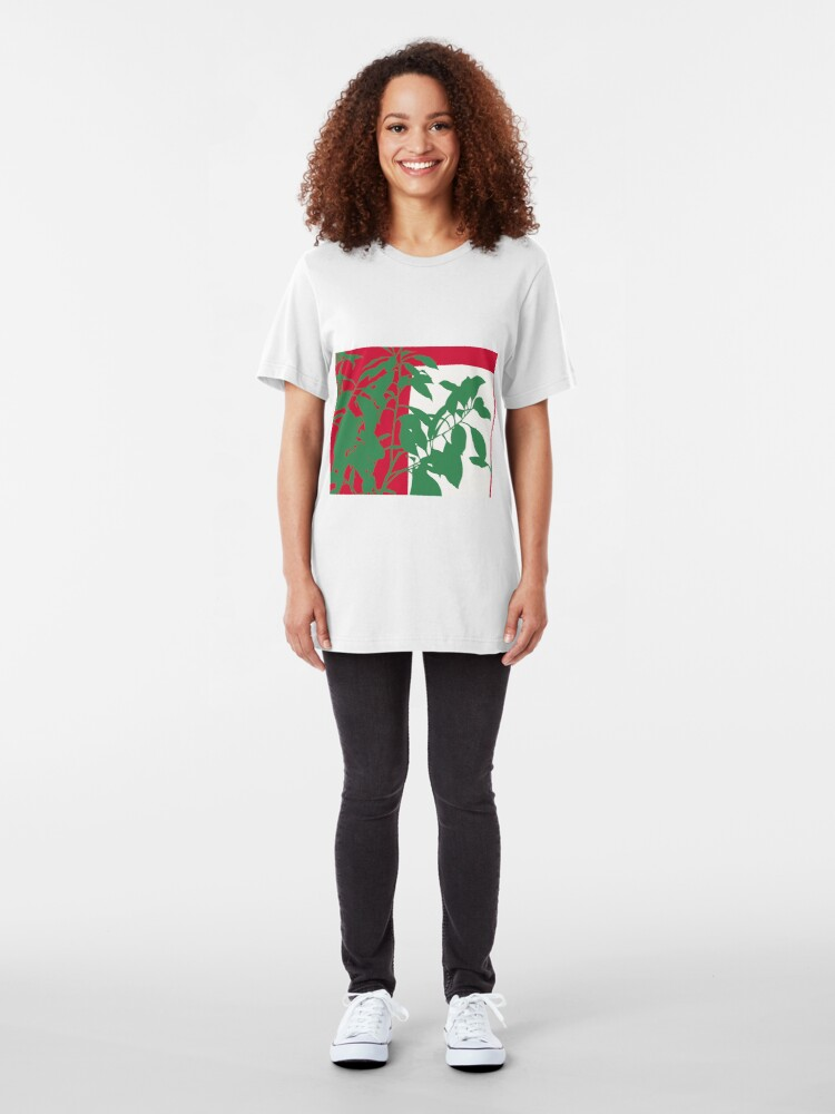 Alternate view of Plant in Silhouette Slim Fit T-Shirt