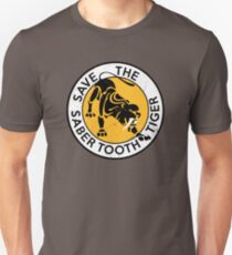 Saber Tooth Tiger SAVE WILDLIFE Conservation Unisex T-Shirt