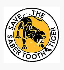 Saber Tooth Tiger SAVE WILDLIFE Conservation Photographic Print