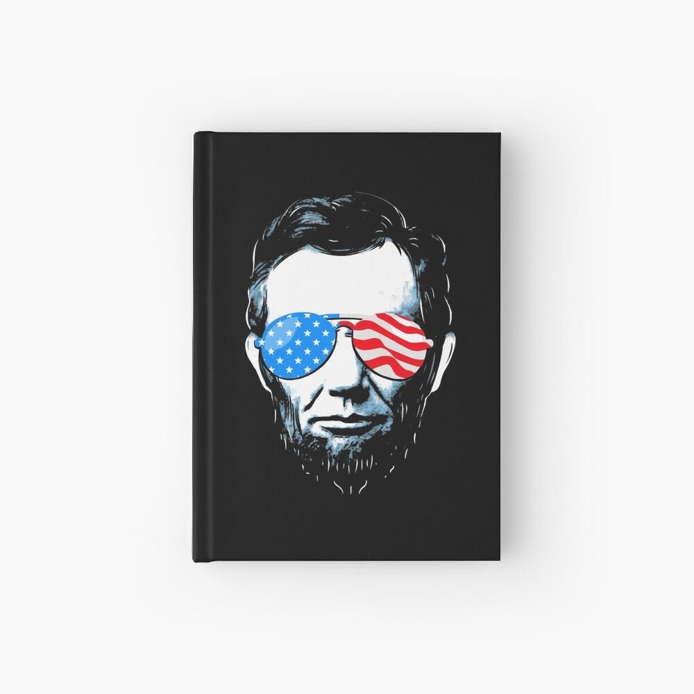 Abe Lincoln in Sonnenbrille für 4. Juli Notizbuch