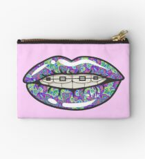 Psychedelic Lips Braces Studio Pouch